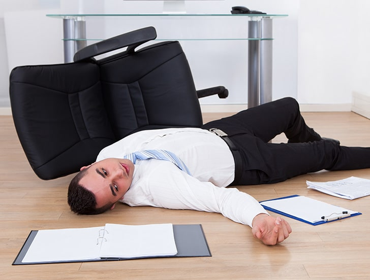 Businessman Fallen From Defective Office Chair